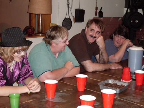 Lively conversation, and lots of laughter, at a typical family gathering.