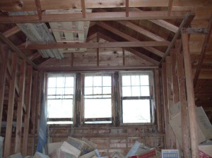 Attic, Messy, West 3 Windows, Alcove Area - August 2009