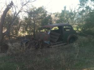 Old rusty car.