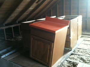 Craft Cabinets, Attic, Not in Place - February 2014