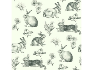 Wallpaper Rabbit Toile