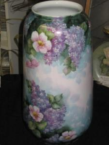 Lilac Painted Vase
