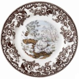 Spode Woodland china white hare