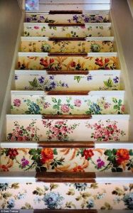 Attic Stairwell Idea - Wallpaper Remnants