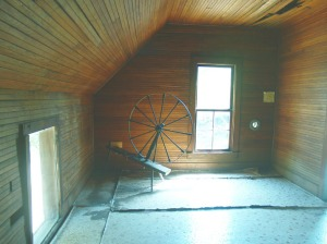 Spinning Wheel in Attic