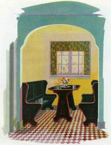 Breakfast Nook, Black-and-Red