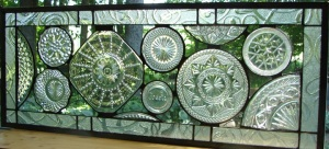 Cut-GlassPlates Window, Long Horizontal