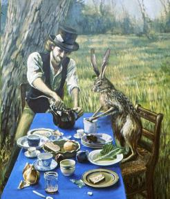 Mad Hatter with Hare