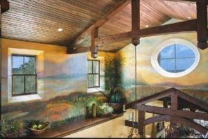 Mural in 2 Story Loft Area