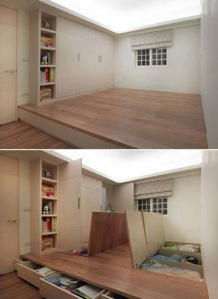 Storage Spaces in Raised Floor