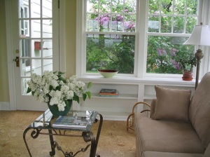 Sun Room, Built-in Bookshelves