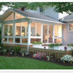 Sun Room, Deck with Flower Border