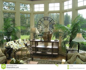 Sun Room, Elegant with Ferns