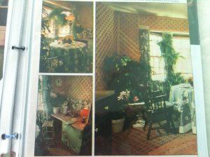 Trellis-Work on Walls, Kitchen #1
